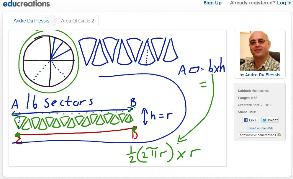 Educreations Circle Example